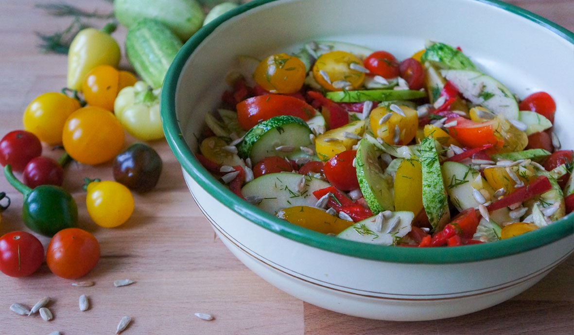 Salad Challenge day 5 Tomato dill salad