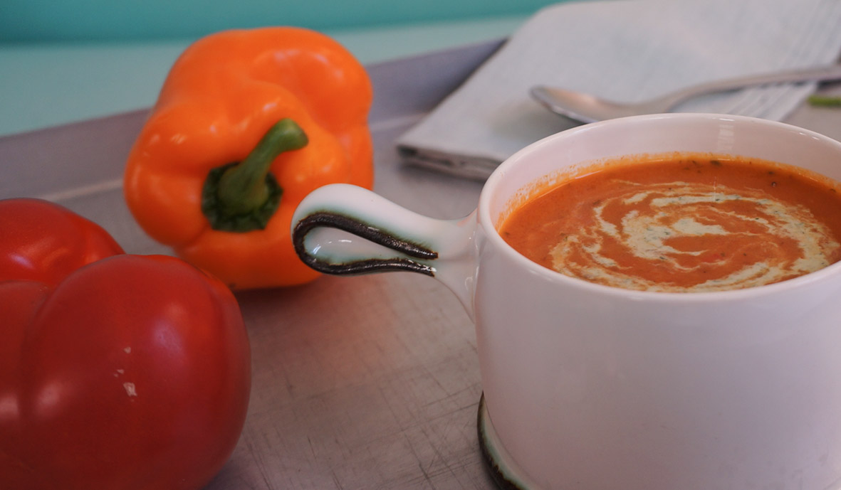 Spicy tomato soup with coriander & cumin
